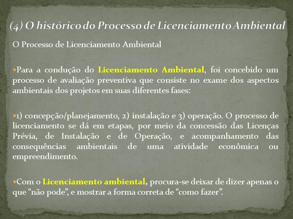 O Processo de Licenciamento Ambiental Para a condução do Licenciamento Ambiental, foi concebido um processo de avaliação preventiva que consiste no ex