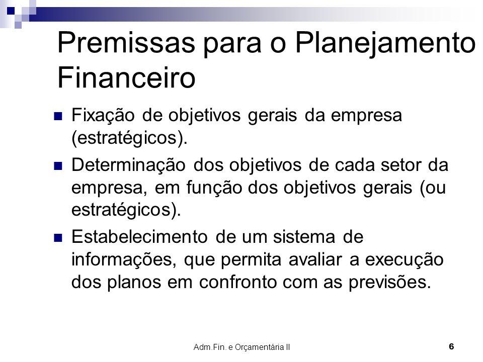 Adm.Fin.e Orçamentária II 47 ORÇAMENTO PÚBLICO Prof.