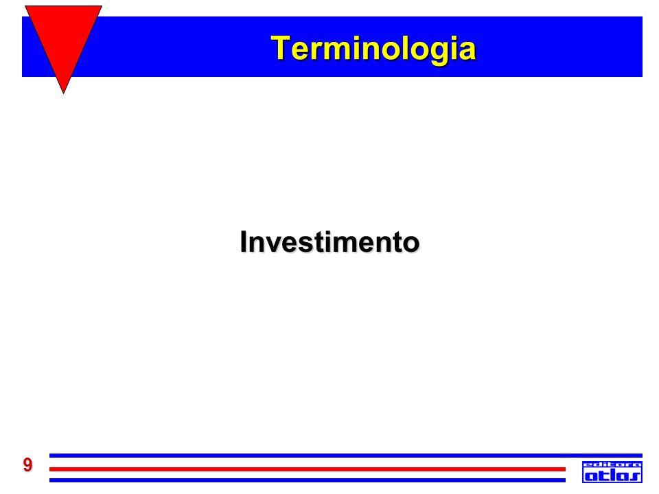 9 Terminologia Investimento
