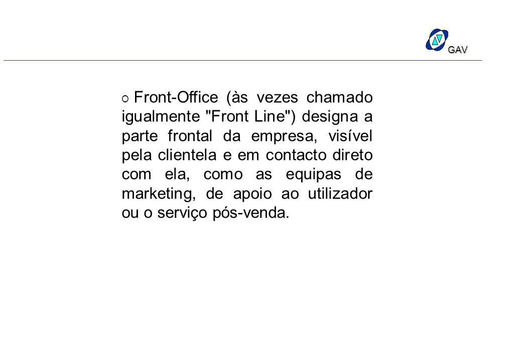 GAV O Front-Office (às vezes chamado igualmente