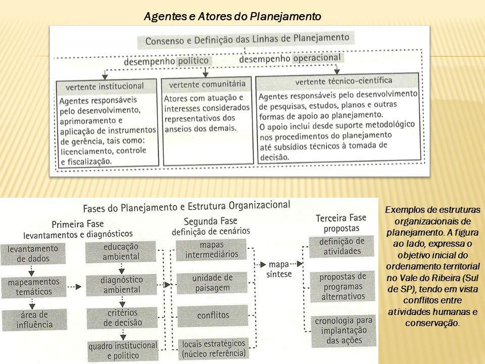 Agentes e Atores do Planejamento Exemplos de estruturas organizacionais de planejamento. A figura ao lado, expressa o objetivo inicial do ordenamento