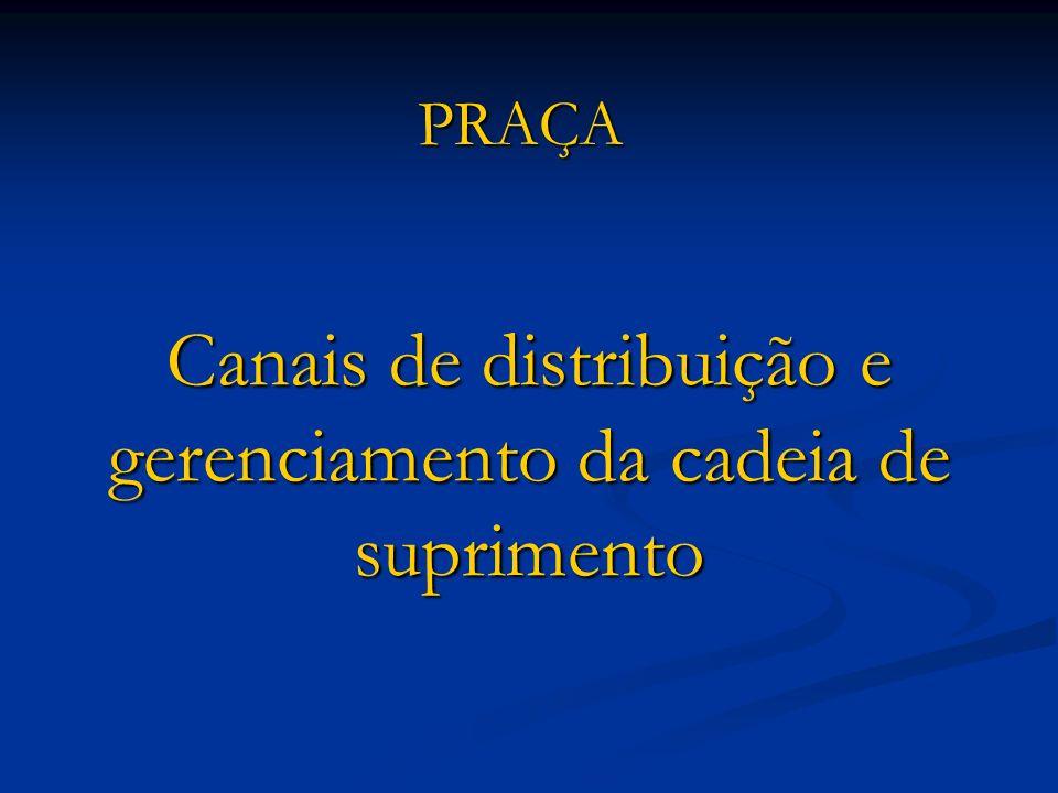 Canais de distribuição e gerenciamento da cadeia de suprimento PRAÇA