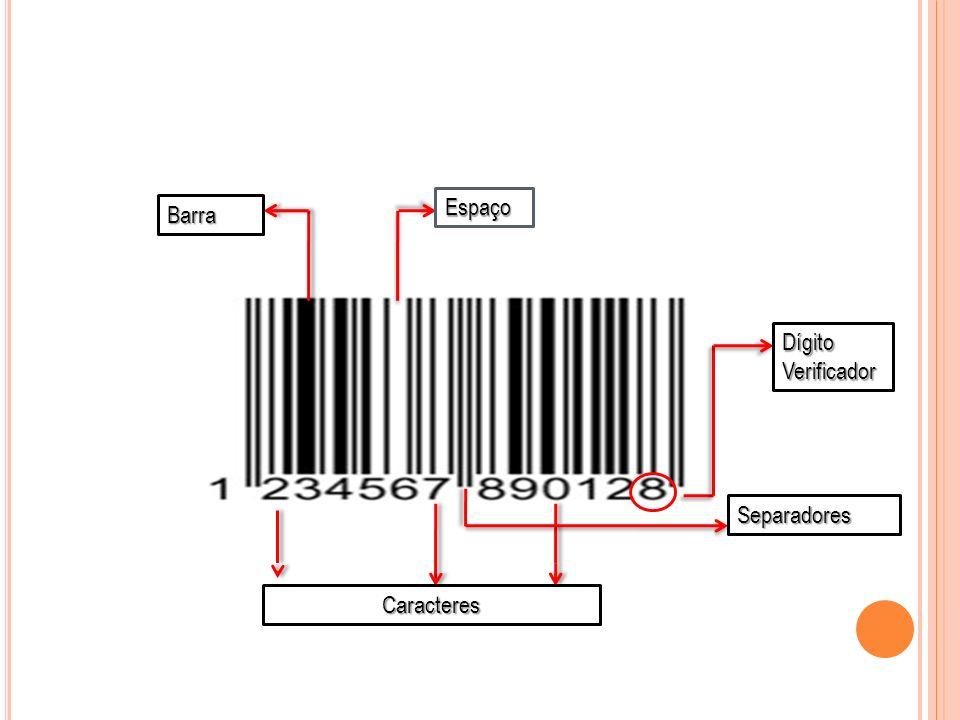 Barra Espaço Caracteres Separadores Dígito Verificador