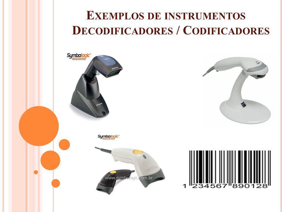 E XEMPLOS DE INSTRUMENTOS D ECODIFICADORES / C ODIFICADORES