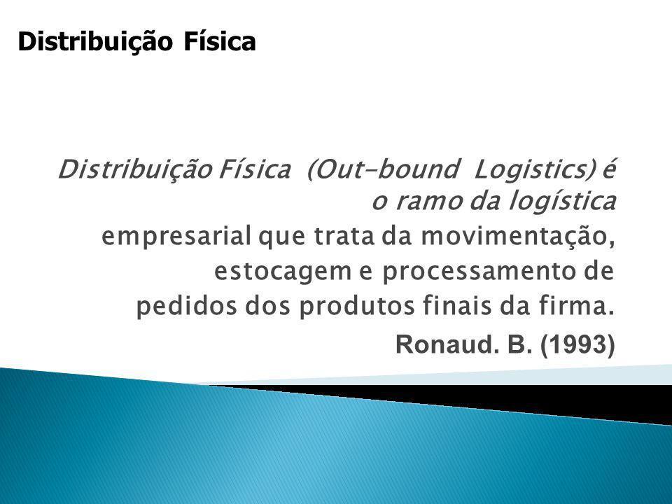 Distribuição Física (Out-bound Logistics) é o ramo da logística empresarial que trata da movimentação, estocagem e processamento de pedidos dos produt