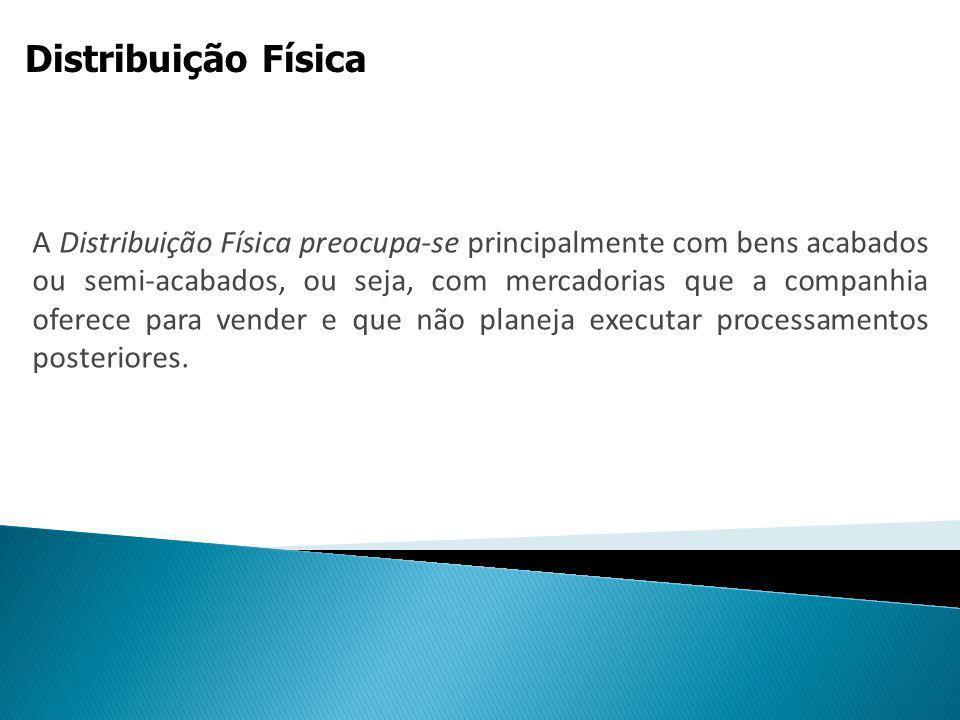 Distribuição Física Mercado composto por intermediários: são os que não consomem o produto, mas o oferecem para revenda.