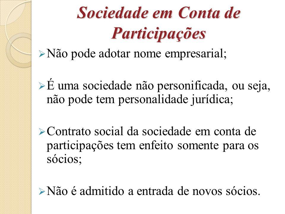Responsabilidades do sócio Ostensivo Sócio ostensivo tem total responsabilidade sobre a sociedade, tanto contábeis e judiciais externamente.