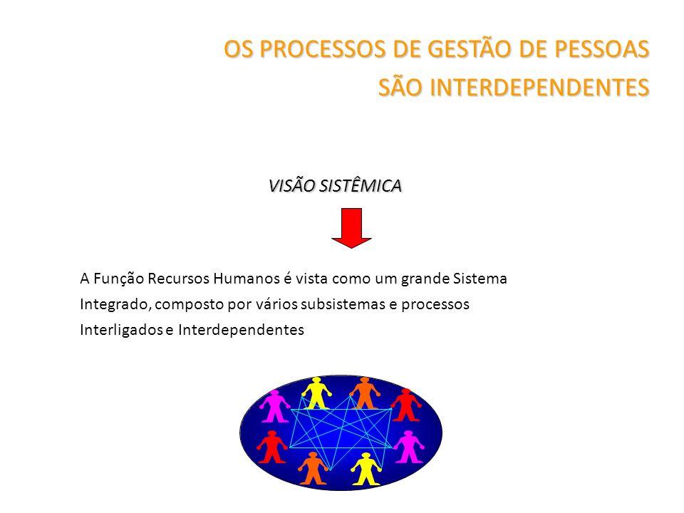 A Função Recursos Humanos é vista como um grande Sistema Integrado, composto por vários subsistemas e processos Interligados e Interdependentes OS PRO
