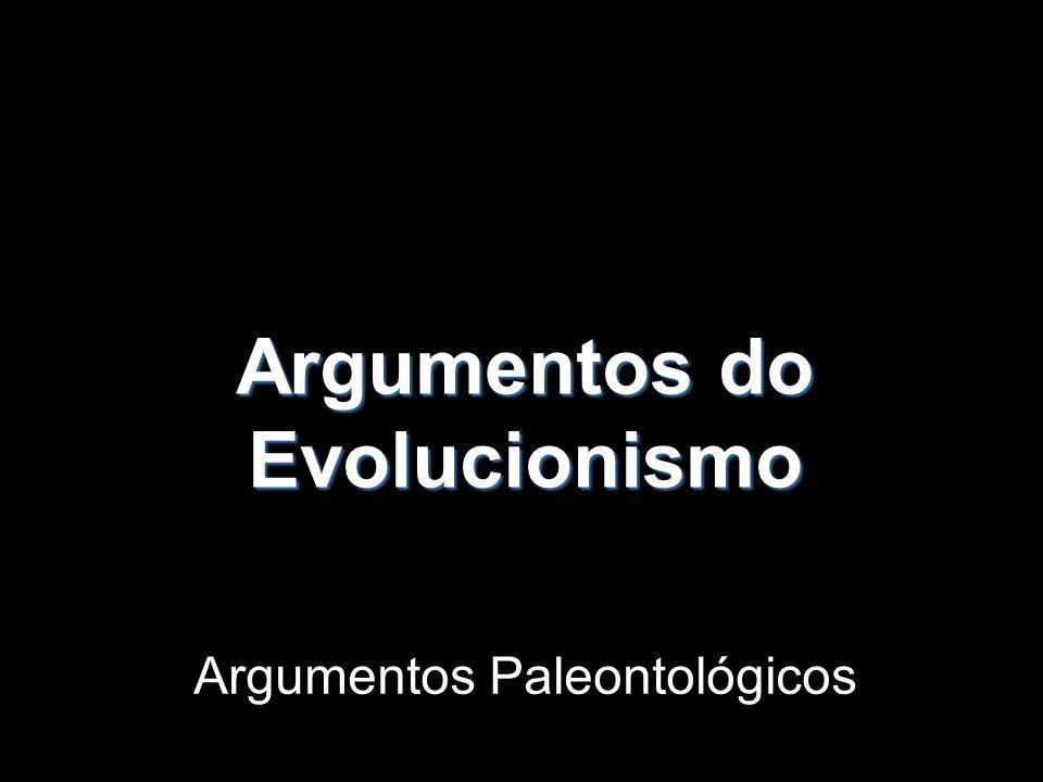 Argumentos do Evolucionismo Argumentos Paleontológicos