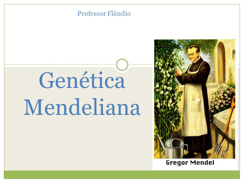 Genética Mendeliana Professor Fláudio