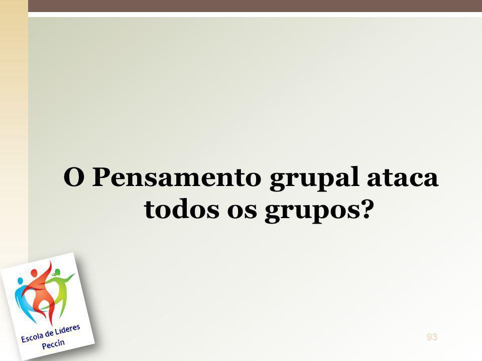 O Pensamento grupal ataca todos os grupos? 93