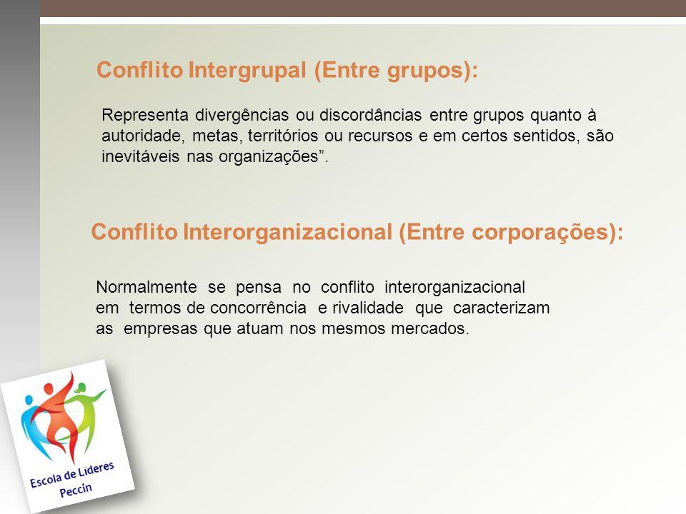 Representa divergências ou discordâncias entre grupos quanto à autoridade, metas, territórios ou recursos e em certos sentidos, são inevitáveis nas or
