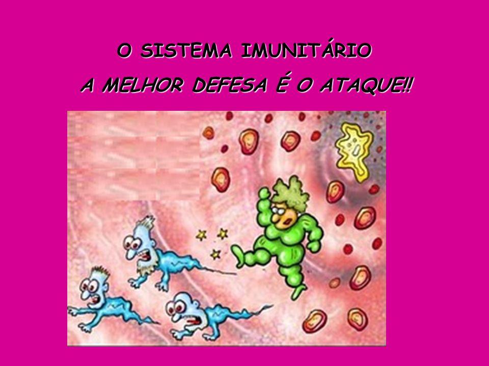 A função do sistema imunitário é proteger nosso corpo contra microrganismos e corpos estranhos, que chamaremos a partir de agora de ANTÍGENOS.