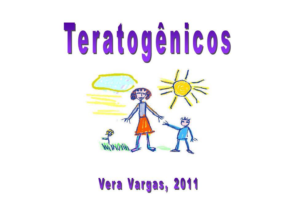 Álcool - Etanol Síndrome do alcoolismo fetal Síndrome do alcoolismo fetal –Retardo do crescimento intra-uterino –Retardo mental –Microcefalia –Déficit de coordenação motora –Anomalias oculares –Anomalias das articulações –Patologia de diversos órgãos O uso do dissulfiram, para ajudar a abandonar o vício, é contra- indicado na gravidez pela suspeita de teratogenicidade