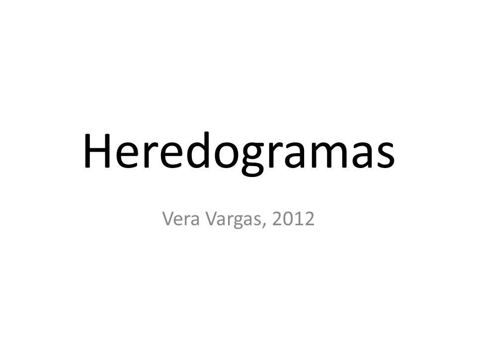 Heredogramas Vera Vargas, 2012