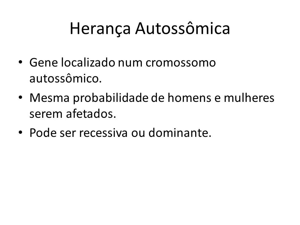 Exemplo de herança autossômica recessiva