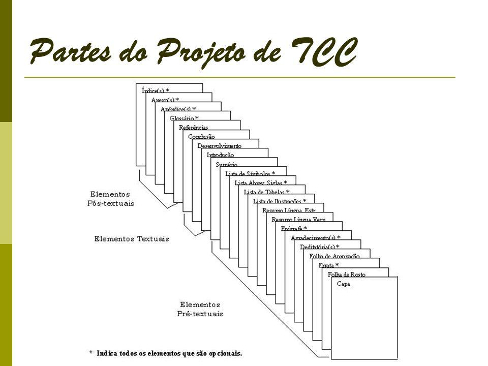 Partes do Projeto de TCC
