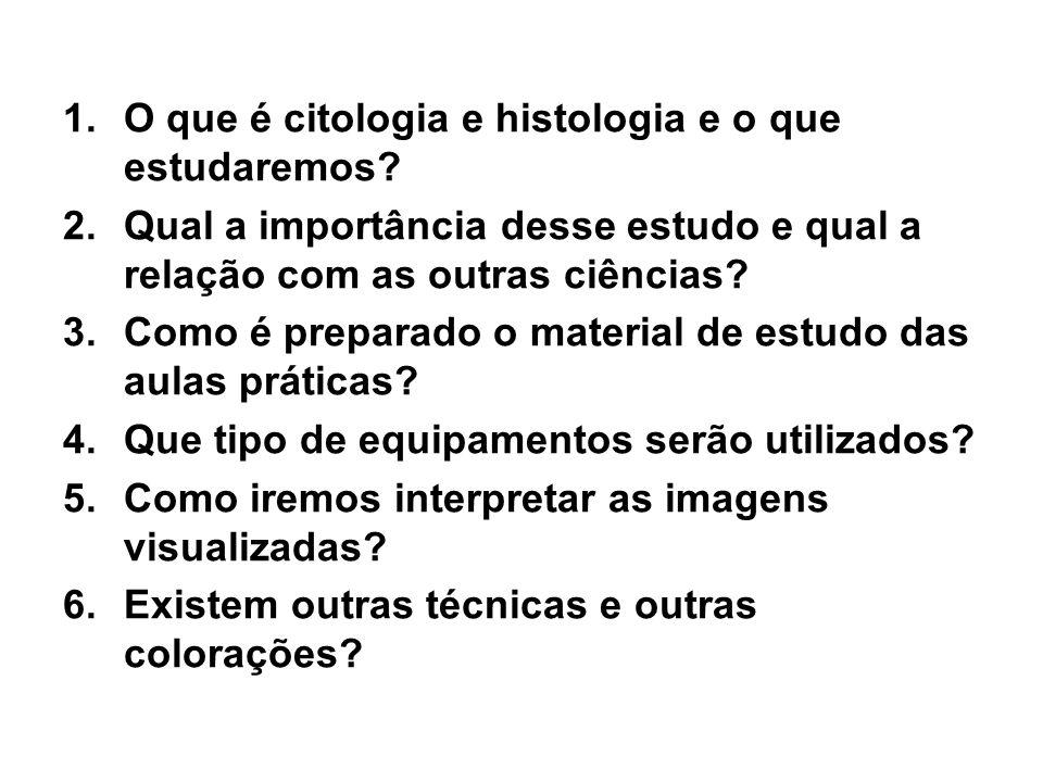 1.O que é citologia e histologia e o que estudaremos.