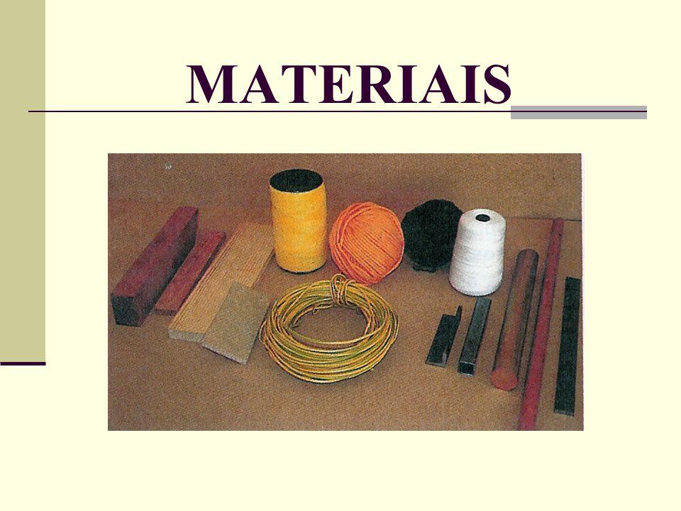 GRUPOS de MATERIAIS Os M MM METAIS são materiais naturais, encontram-se no solo sob a forma mineral, podendo também ser obtidas as ligas metálicas (ferrosas e não ferrosas) por processos de transformação de matérias-primas.