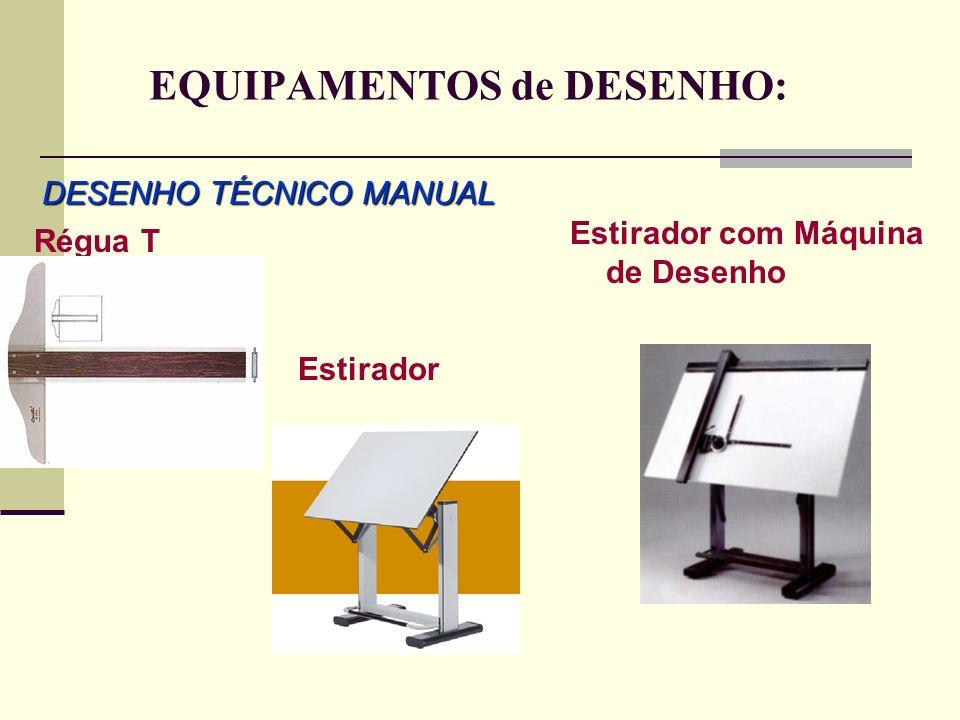 EQUIPAMENTOS de DESENHO: DESENHO TÉCNICO MANUAL Régua T Estirador Estirador com Máquina de Desenho