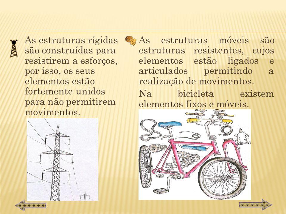 Estruturas resistentes Estrutura é o modo como um conjunto de elementos que formam um objecto se juntam e se organizam, procurando equilíbrio, estabil