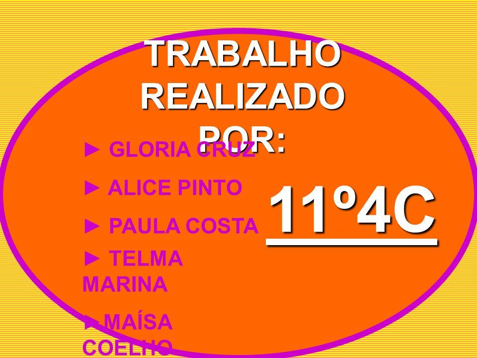 TRABALHO REALIZADO POR: GLORIA CRUZ ALICE PINTO PAULA COSTA TELMA MARINA MAÍSA COELHO 11º4C