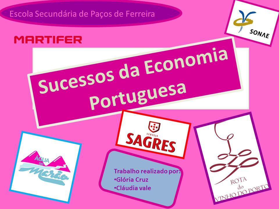 Escola Secundária de Paços de Ferreira Sucessos da Economia Portuguesa Trabalho realizado por: Glória Cruz Cláudia vale