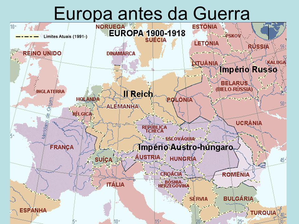Os Motivos da Guerra A rivalidade anglo-alemã –Competição industrial e comercial.