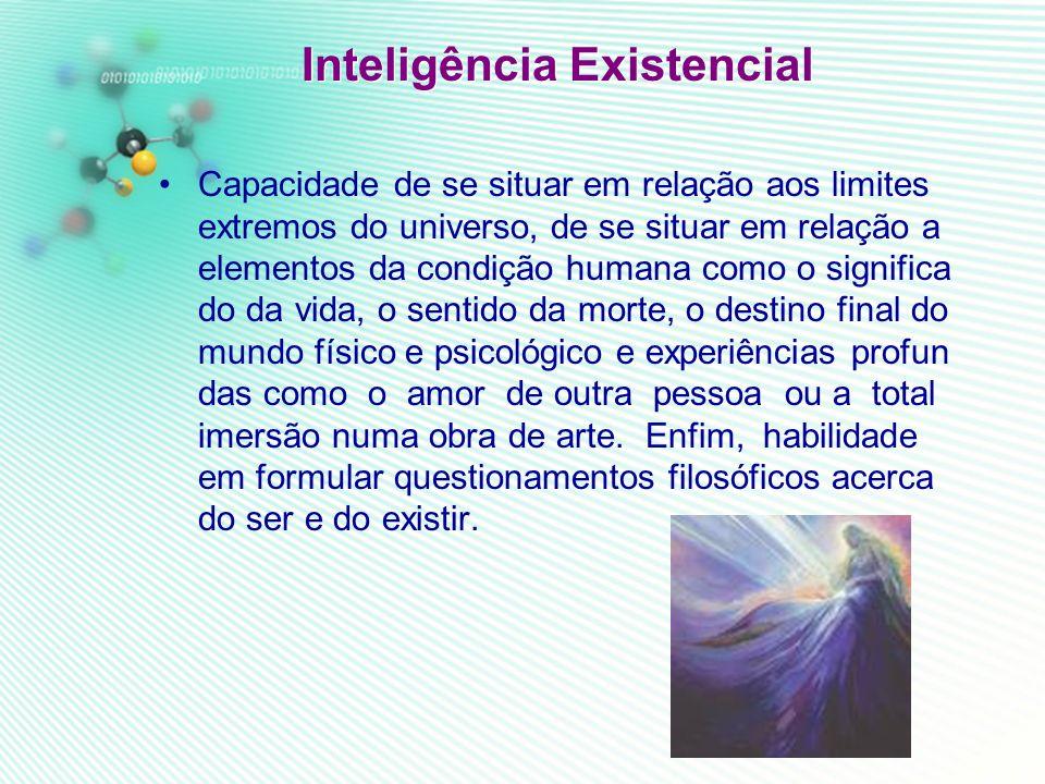 Inteligencia ecológica Ou Naturalista: é a capacidade de uma pessoa em sentir-se um componente natu ral com sensibilidade ao meio-ambiente. Ergonomia.