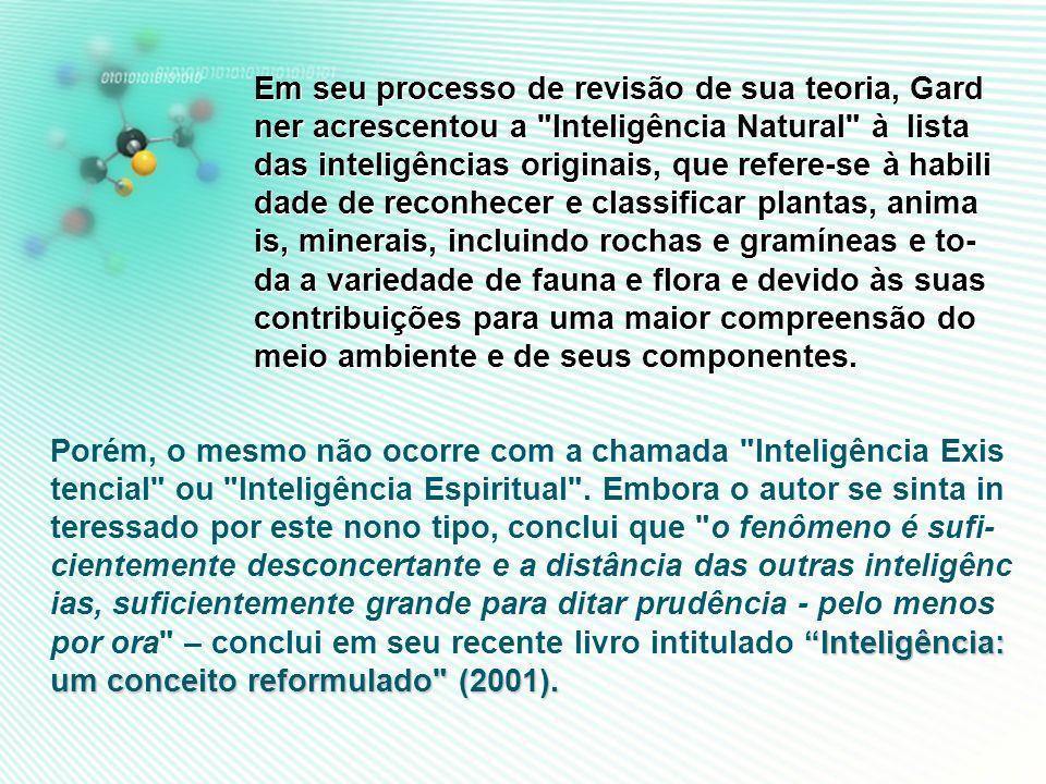 NOVE* TIPOS DE INTELIGÊNCIAS MÚLTIPLAS NOVE* TIPOS DE INTELIGÊNCIAS MÚLTIPLAS 1.Inteligencia interpessoal. 2.Inteligencia introspectiva / intrapessoal
