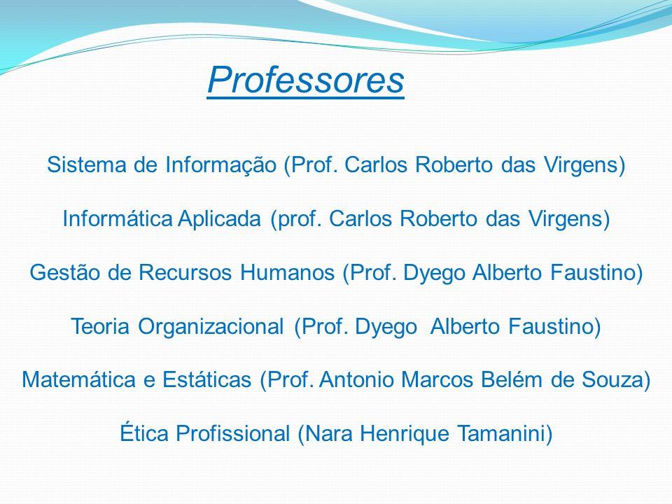 Professores Sistema de Informação (Prof. Carlos Roberto das Virgens) Informática Aplicada (prof. Carlos Roberto das Virgens) Gestão de Recursos Humano
