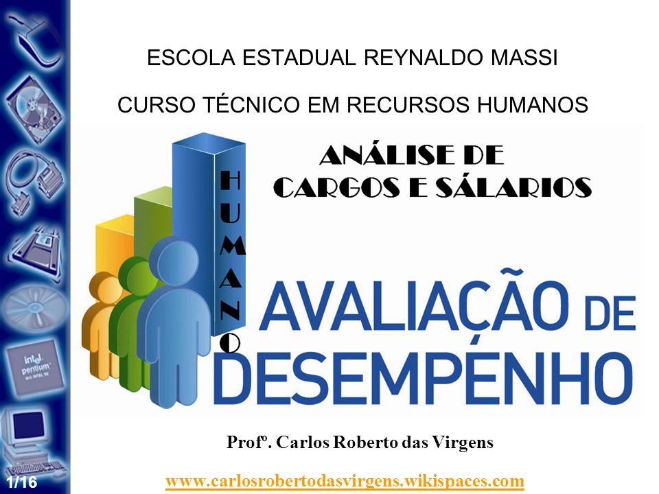 1/16 ESCOLA ESTADUAL REYNALDO MASSI CURSO TÉCNICO EM RECURSOS HUMANOS SISTEMAS DE INFORMAÇÃO Profº.