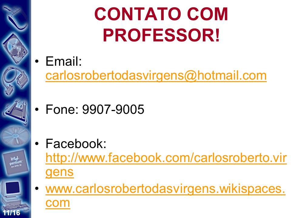 11/16 CONTATO COM PROFESSOR.
