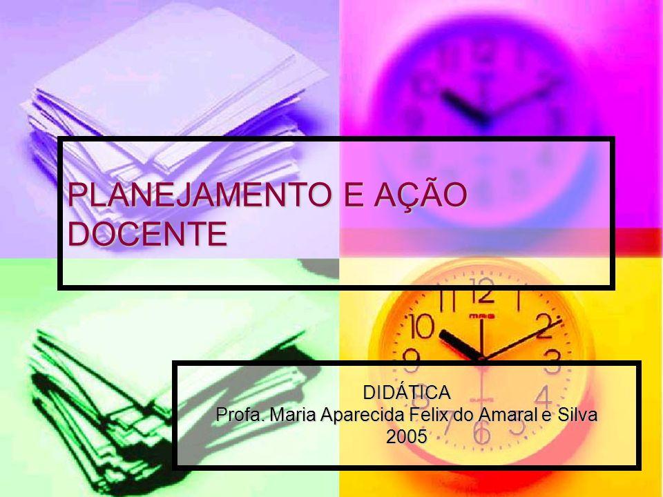 PLANEJAMENTO E AÇÃO DOCENTE DIDÁTICA Profa. Maria Aparecida Felix do Amaral e Silva 2005