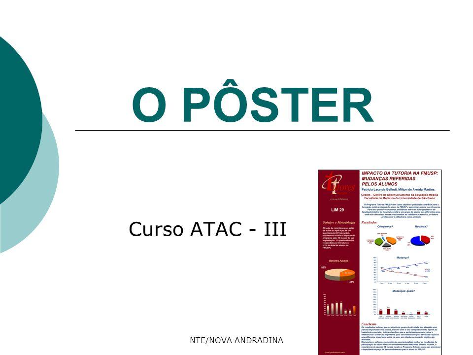 NTE/NOVA ANDRADINA O PÔSTER Curso ATAC - III