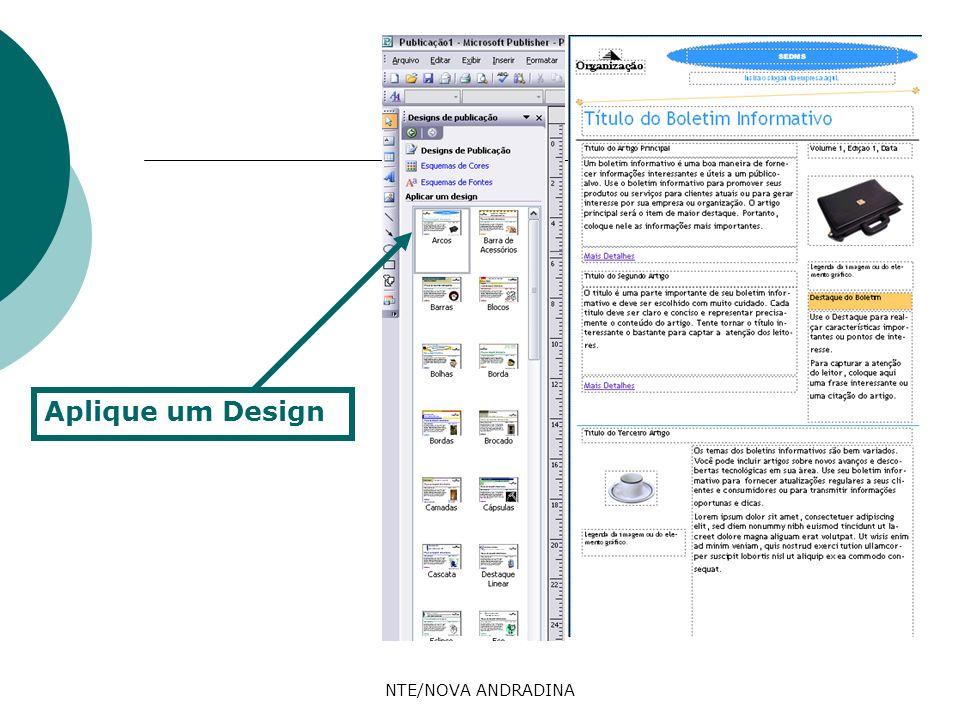 NTE/NOVA ANDRADINA Aplique um Design
