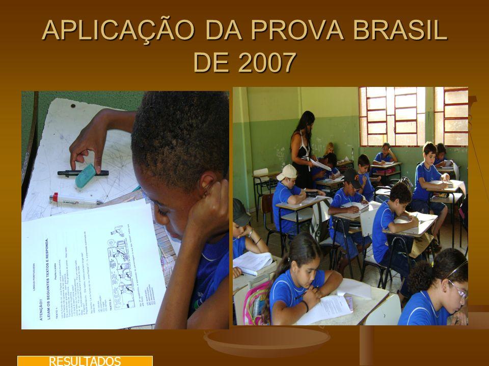 APLICAÇÃO DA PROVA BRASIL DE 2007 RESULTADOS