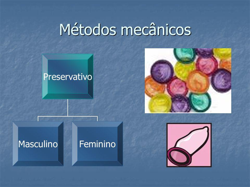 Métodos mecânicos Preservativo MasculinoFeminino