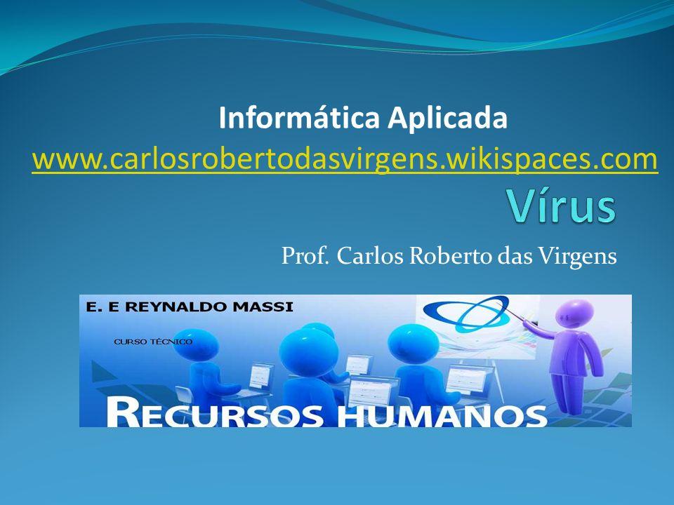 Prof. Carlos Roberto das Virgens Informática Aplicada www.carlosrobertodasvirgens.wikispaces.com