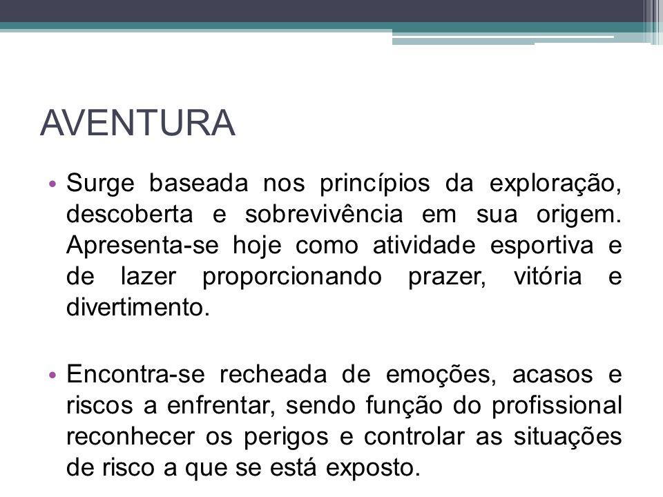 AVENTURA Surge baseada nos princípios da exploração, descoberta e sobrevivência em sua origem.