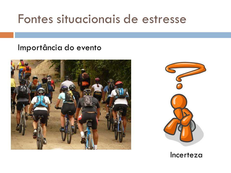 Fontes situacionais de estresse Importância do evento Incerteza