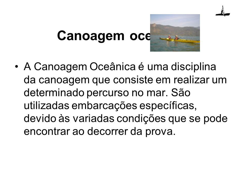 A Canoagem Oceânica é uma disciplina da canoagem que consiste em realizar um determinado percurso no mar. São utilizadas embarcações específicas, devi