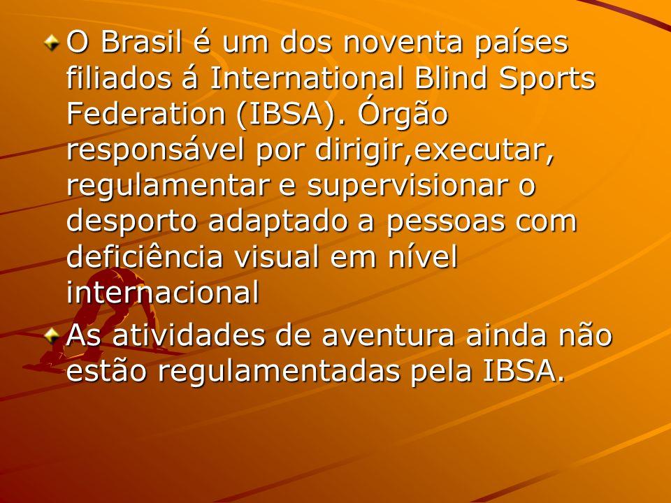 O Brasil é um dos noventa países filiados á International Blind Sports Federation (IBSA). Órgão responsável por dirigir,executar, regulamentar e super
