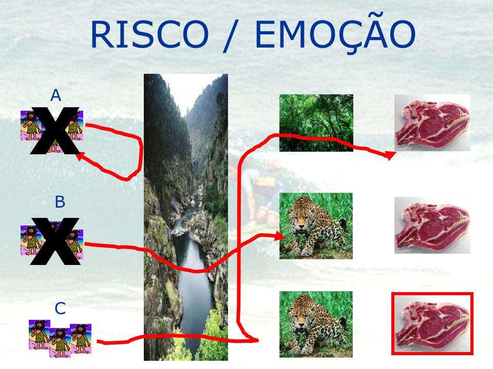 RISCO / EMOÇÃO A B C X X