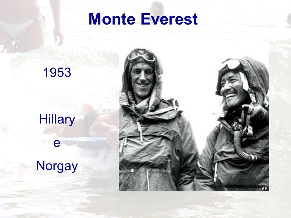 Monte Everest 1953 Hillary e Norgay