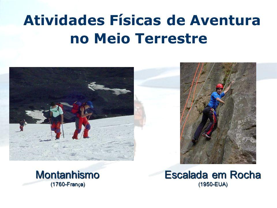 Atividades Físicas de Aventura no Meio TerrestreMontanhismo (1760-Fran ç a) Escalada em Rocha (1950-EUA)