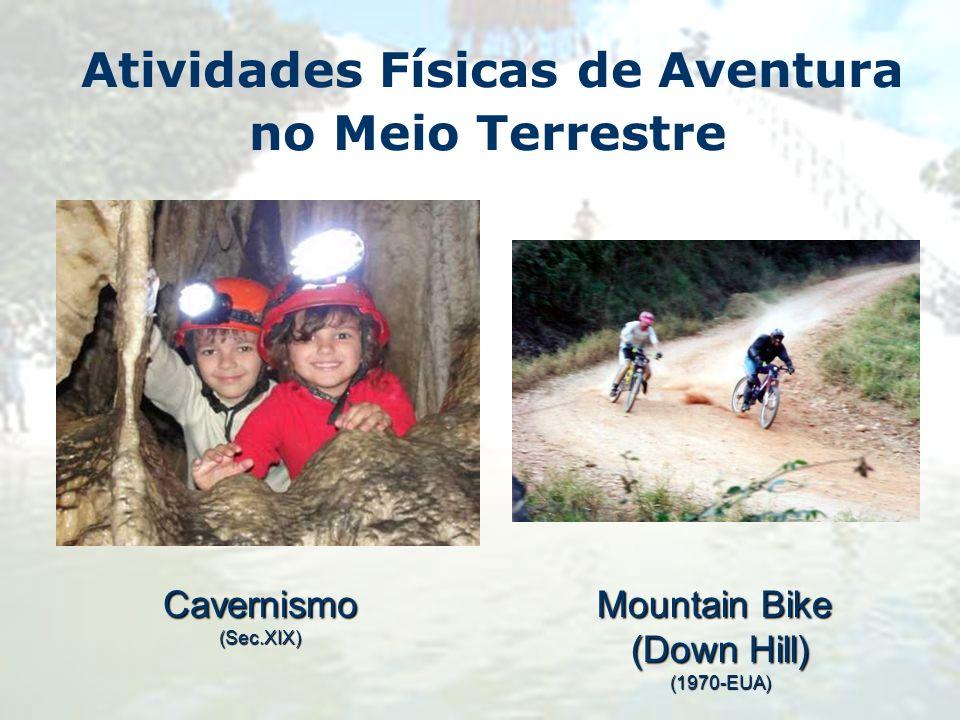 Atividades Físicas de Aventura no Meio TerrestreCavernismo(Sec.XIX) Mountain Bike (Down Hill) (1970-EUA)