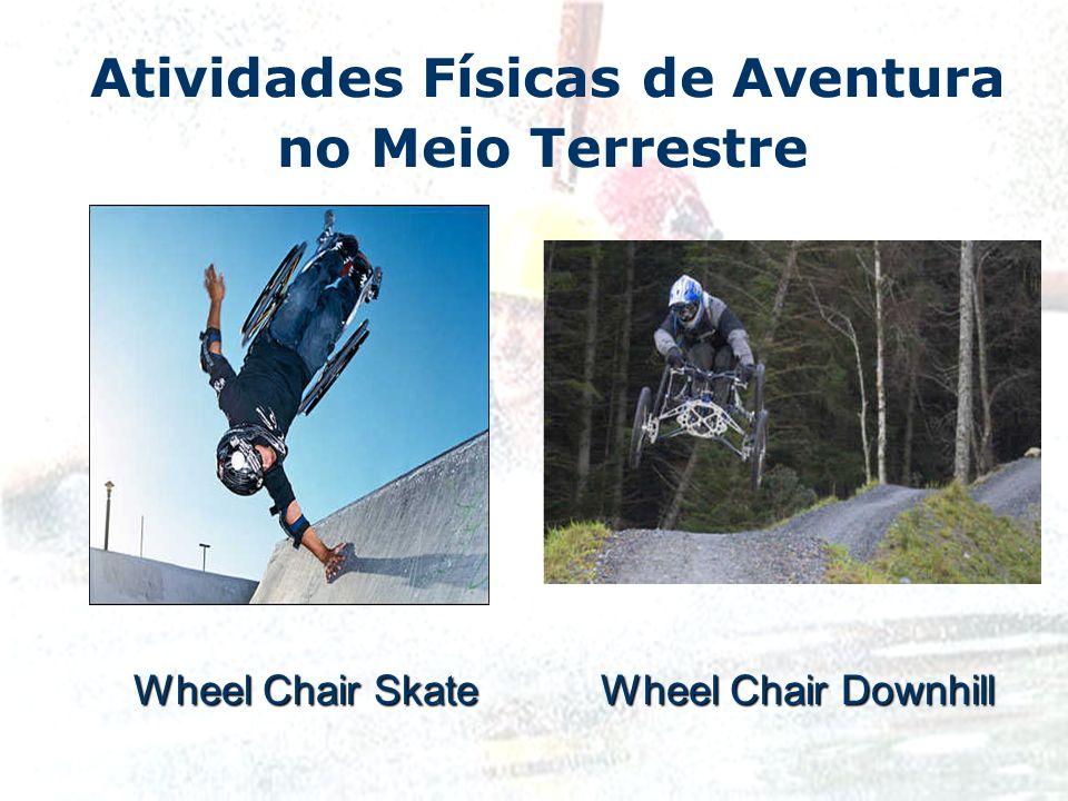 Atividades Físicas de Aventura no Meio Terrestre Wheel Chair Skate Wheel Chair Downhill