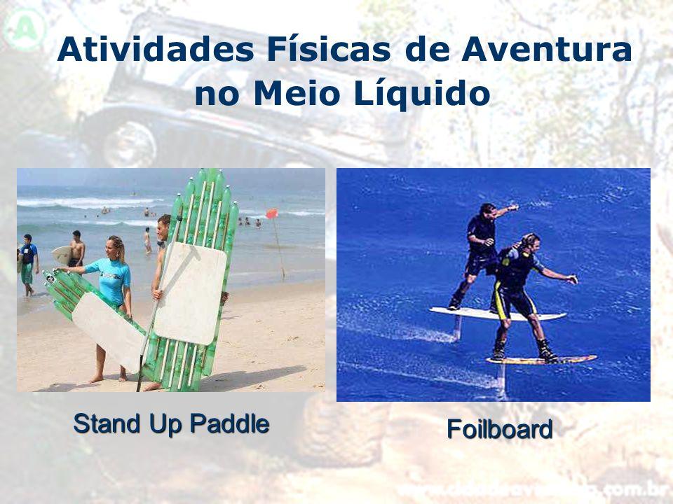 Atividades Físicas de Aventura no Meio Líquido Stand Up Paddle Foilboard