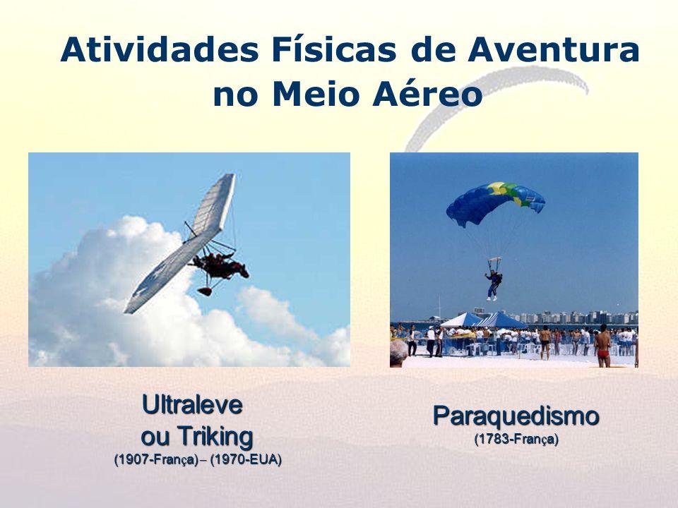 Atividades Físicas de Aventura no Meio AéreoUltraleve ou Triking (1907-Fran ç a) – (1970-EUA) Paraquedismo (1783-Fran ç a)